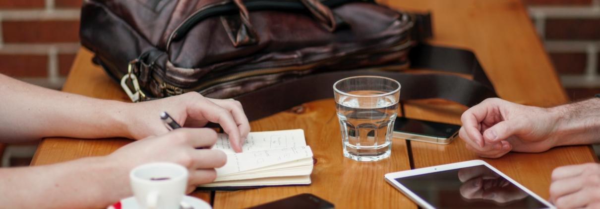 Meeting coffee tablet